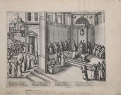 Pope Clement VIII declaring...