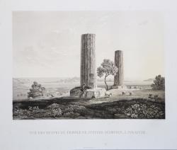Vue des ruines du Temple de...