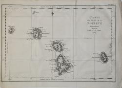 Carta Des Isle de la Societé…