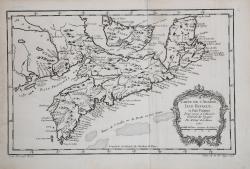 Carte de L'Acadie, Isle...