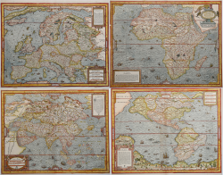 Carte dei quattro continenti
