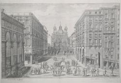 Veduta della Piazza de Banchi