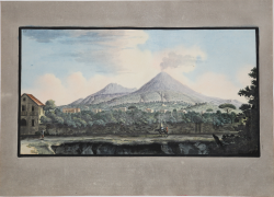 View of Mount Vesuvius from...