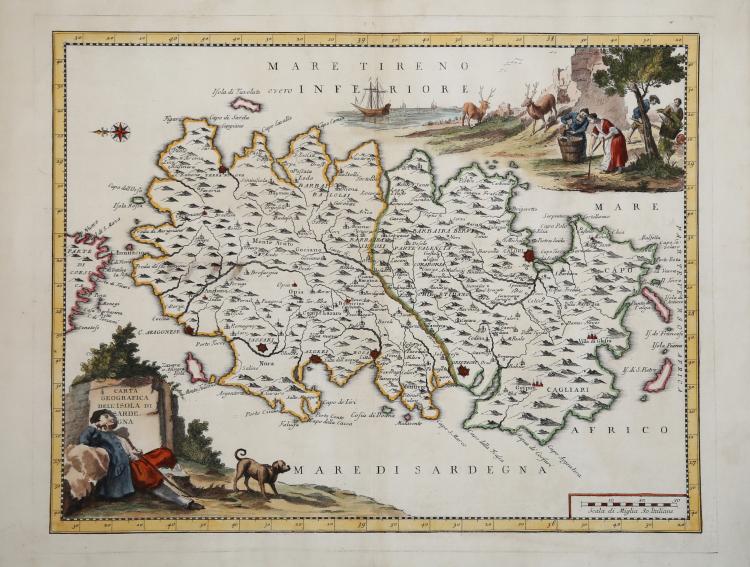 Cartina Geografica Dell Isola Di Creta.Carta Geografica Dell Isola Di Sardegna