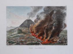 Vesuvio. Lava d'Ottobre 1751.