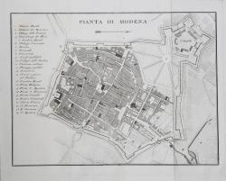 Pianta di Modena