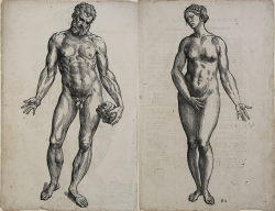 Naked man and woman (Adam...