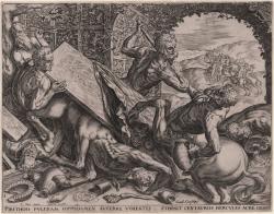 Hercules killing Centauros