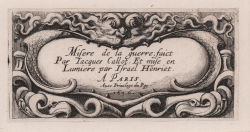 Title page of the miseries...