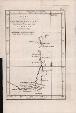 Kaart van Van Diemens Land