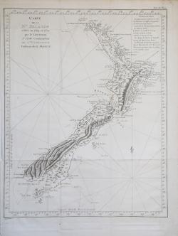 Carte de la N.le Zelande...