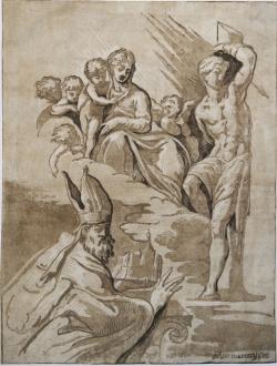 Vergine con Bambino, San...