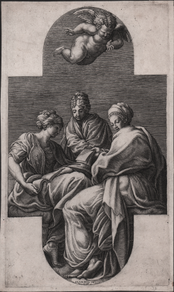 Three Muses with a Putto...