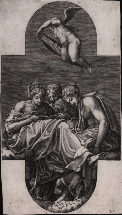Three muses and a putto...
