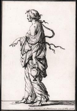 Standing female figure...