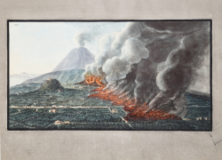 View of eruption of Mount...