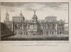 Vüe du Pavillon Royal orné...