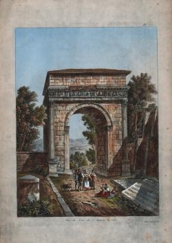Vue de l'arc de C. Auguste,...