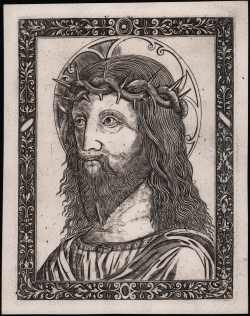 Head of Christ crowned with...